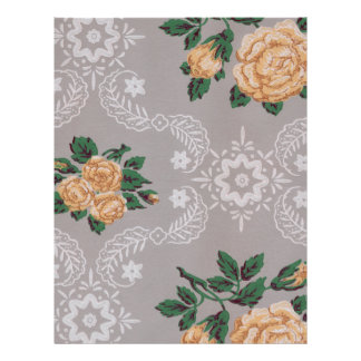 Gold Roses Vintage Wallpaper Scrapbook Paper