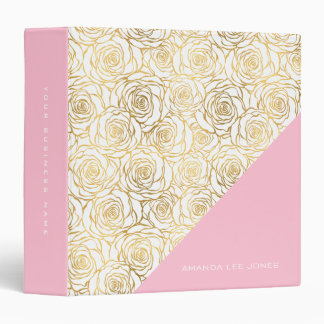 Gold Roses with Pink Binders