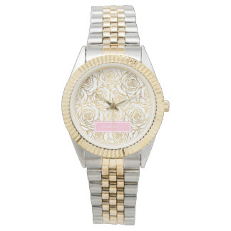 Gold Roses with Pink Watches