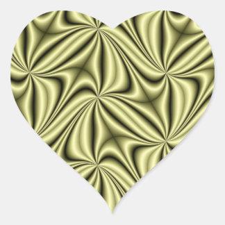 Gold Rush Hologram Fractal Heart Sticker