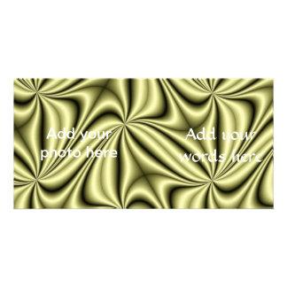 Gold Rush Hologram Fractal Photo Cards