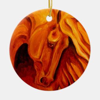 Gold Rush Horse Ornament