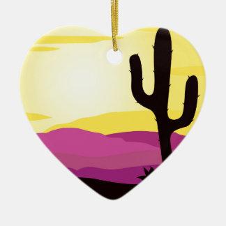 Gold rush : Mexicana gold Sunset II Ceramic Heart Ornament