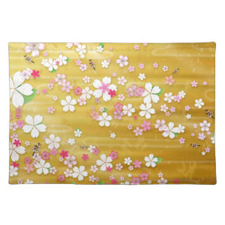 Gold Sakura Kimono Place Mat