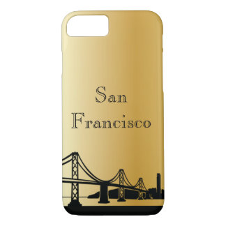 Gold San Francisco Silhouette Phone & Ipad Cases