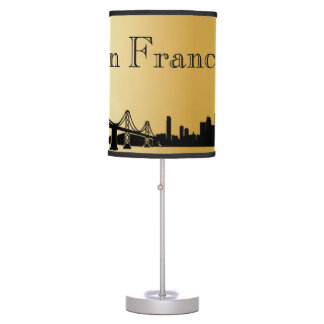 Gold San Francisco Skyline Silhouette Table Lamp