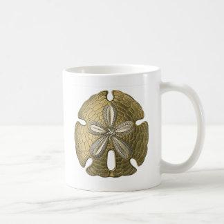 Gold Sand Dollar Coffee Mug