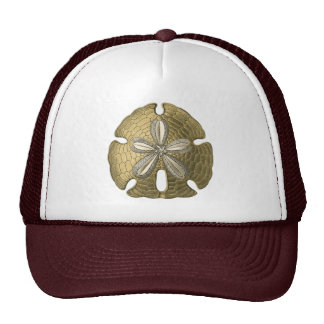 Gold Sand Dollar Trucker Hat