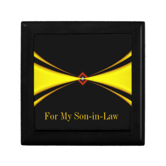 Gold Satin Masculine Design Gift Box