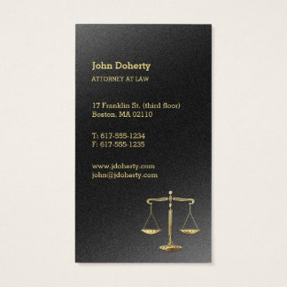 Gold Scales of Justice | Attorney at Law Business Card