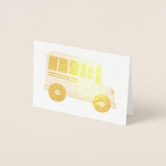 Gold School Bus Driver Teacher Education Foil Card