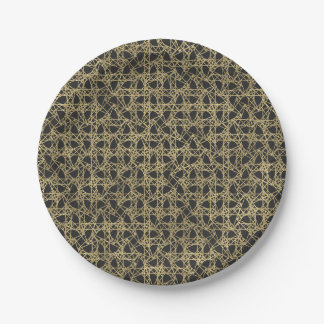 Gold Scratch Golden Modern Glamour Elegant Party Paper Plate
