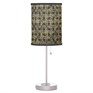 Gold Scratch Golden Modern Glamour Unique Elegant Table Lamp