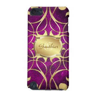 Gold Scroll Heart Pink Stained Glass Ipod  Case