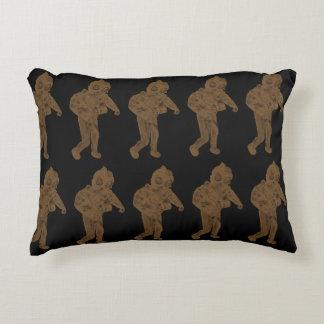 Gold scuba dude funky design decorative pillow