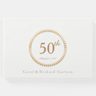 Gold Seal 50th Wedding Anniversary Guest Book