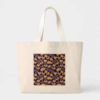 gold seamless pattern 3 .1 large tote bag