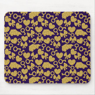 gold seamless pattern 3 .1 mouse pad