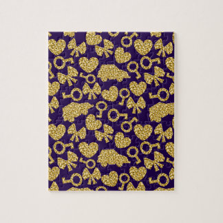 gold seamless pattern 3 .1 puzzle