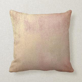 Gold Sepia Blush Rose Gold Minimal Painting Pastel Throw Pillow