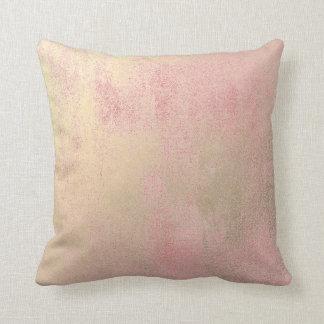 Gold Sepia Pink Rose Gold Minimal Painting Pastel Throw Pillow