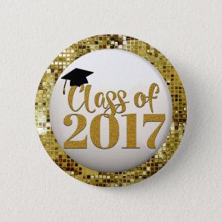 Gold Sequins Class Of 2017 Graduation Button