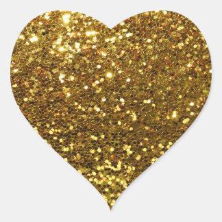 Gold Sequins Glitz Heart Shape Envelope Seals