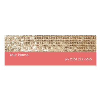 Gold Sequins Mini Profile Card Business Cards