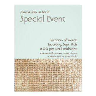 Gold Sequins Retro Party Flyer