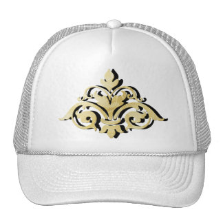 Gold Shadowed Emblem Trucker Hat