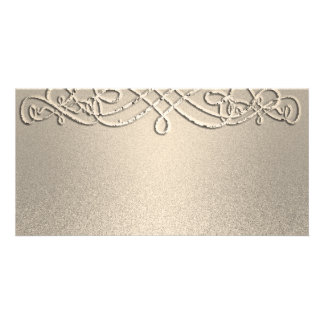 Gold Shimmer Glitter Template Custom Personalized Photo Card