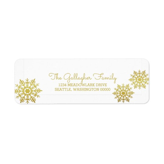 Gold Shimmering Chic Snowflake Holiday