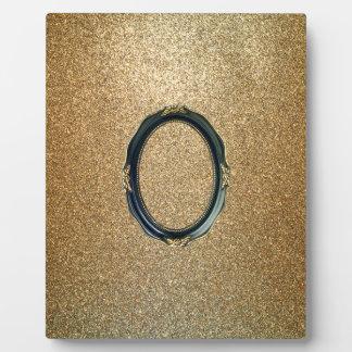 gold shine plaque