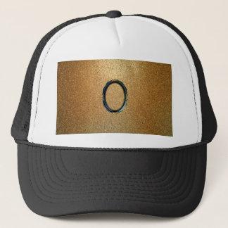 gold shine trucker hat