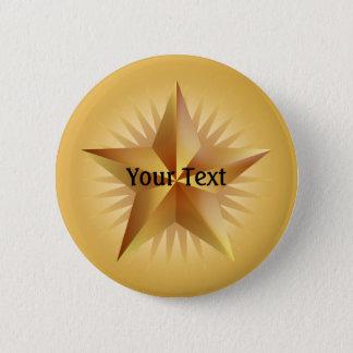 Gold Shinning Star Custom Button