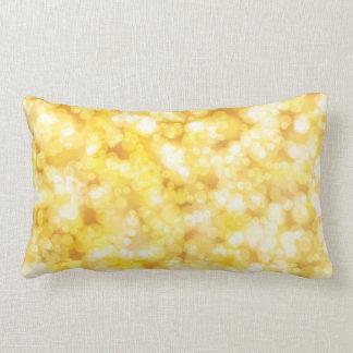 Gold Shiny Luxury Lumbar Pillow