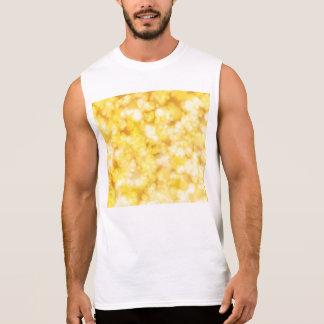 Gold Shiny Luxury Sleeveless Shirt