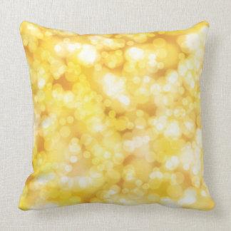 Gold Shiny Luxury Throw Pillow