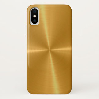 Gold Shiny Stainless Steel Metal iPhone X Case