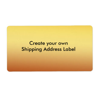 Gold Shipping Address Label