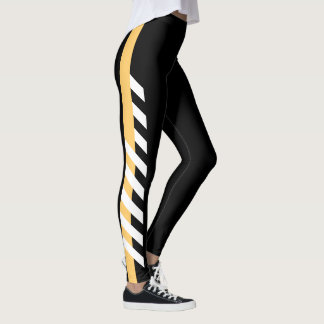 Gold Side Stripe Leggings