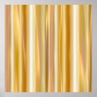 Gold Silk Curtain Poster
