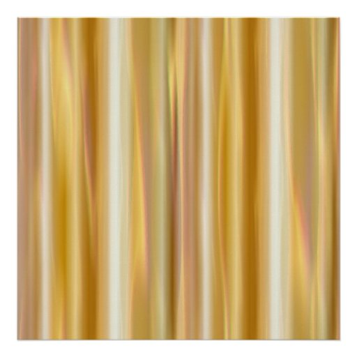 Gold Silk Curtain Poster