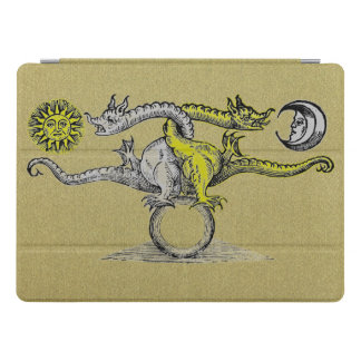 Gold & Silver Alchemy Dragons iPad Pro Cover