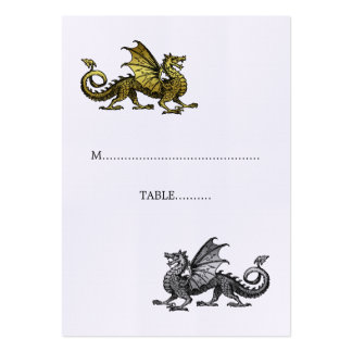 Gold Silver Dragon Wedding Place Card Business Card Templates