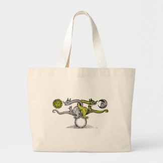 Gold & Silver Dragons Large Tote Bag
