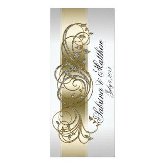Gold Silver Ornate Formal Wedding Program Prayer