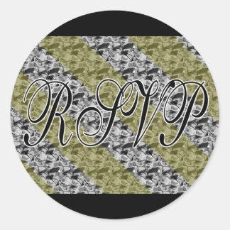 Gold & Silver RSVP Stickers / Envelope Seals