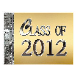 Gold Silver Sequins Graduation Invitations