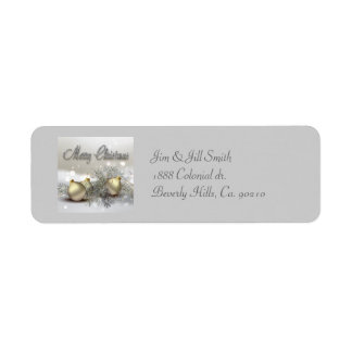 Gold & Silver Shimmer Christmas Ornaments